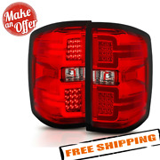 Anzo 311292 Red/black Led Tail Lights For 14-18 Silverado 1500/2500 Hd/3500 Hd