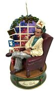 Vtg Carlton Cards At Home With Bing Crosby Musical Tree Ornament White Christmas