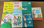 New Vintage 1960's 1st Edition Books 7 Total Cat In Hat Fish Bear Abc