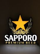 Cm Global Sapporo Premium Beer Led Lighted Sign W/ Power Cord