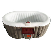 2-person 130-jet Inflatable Hot Tub Spa With Drink Tray And Cover