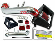 3.5 Red Heat Shield Cold Air Intake + Filter For 2015-2017 Ford F150 5.0l V8