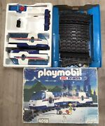 Playmobil Rc Train Set 4018 Large Layout, New Battery Pack, Small Parts Missing