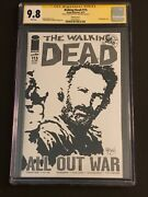 The Walking Dead 115 9.8 Rick Grimes Sketch Cover Cgc Signature Series Signed