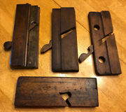4 Vintage Hand Moulding Planes Parts No Irons
