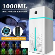 1000ml Ultrasonic Humidifier Usb Led Air Purifier Aroma Essential Oil Diffuser
