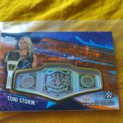 Womenand039s Pro Wrestling Tony Storm Patch Card Limited To 50