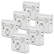 Riddex Sonic Plus Pest Repeller For Rodents And Insects 6-pack Indoor Repellent