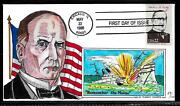 2218f 22c Stamp 1986 President William Mckinley Jr Fdc Hand Painted By Paslay