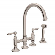 Rohl A1461lmwsstn-2 Kitchen Faucets 4.75 X 17.00 X 11.00 Inches Satin Nickel