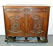 Antique French Chest Of Drawers Commode Regency Cabinet Oak Sideboard Buffet