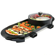 Electric Multifunction Bbq Grill Non Stick Hot Pot Cookware Temperature Control.