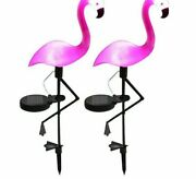 Flamingo Light Solar Stake Waterproof Stick Pink Decoration For Garden Lawn New