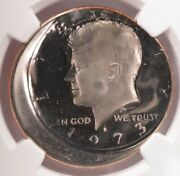 Ngc 50c 1973-s Proof Kennedy Half Double-struck 15 Off-center Pf68 Star