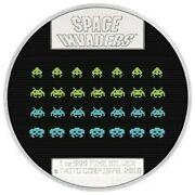 2018 Niue Space Invaders 1 Oz Silver Proof Lenticular 2 Coin Rare With Coa