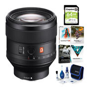 Sony Fe 85mm F/1.4 Gm Lens With Software Suite Cleaning Kit And 64gb Sd Card