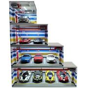 Car Toy Underground Parking Lot Simulation Box With Built-in Light And Dust Door