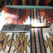 Rare Antique Meat Cleaver Kitchen Butcher Knife Farm Knives Tool Ontario ☆usa