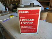 Vintage Empty Gallon Parks Paint Thinner Oil Can Lot 21-36-1