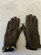 Coach Natural Leather Cuir Naturel . Women's Gloves Mittens. Brown Color