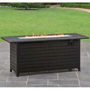 57 Outdoor Gas Fire Pit Table Fireplace Patio Yard Camping Heater Propane Gas