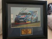 Rare Authentic V8 Supercars Russell Ingall Signed Photo Framed
