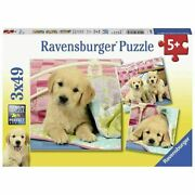 Ravensburger Cute Puppy Dogs 3 X 49 Pc Jigsaw Puzzles 5+