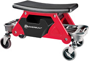 Powerbuilt Heavy Duty Roller Mechanics Seat And Brake Stool With 4-in. Rubber Andndash
