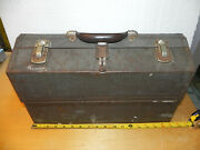 Vintage Kennedy Kits 1017 Cantilever Tool Box Fold Out Toolbox Tackle Chest
