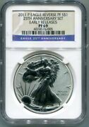 Ngc-pf69 2011-p Reverse Proof Silver Eagle 25th Anniversary Set Early Releases