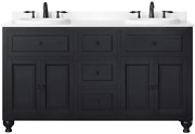 Ove Decors Kensingtondbl-vb Double Vanity With White Marble Countertop And Doubl