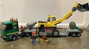 Lego City Excavator Transport - 4203 - 99 Complete With Minifigs