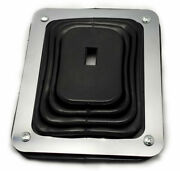 Hot Rod Rubber Shifter Boot With Chrome Plate 5 5/8 X 6 3/4 Universal