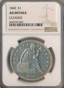 1842 Seated Liberty Silver Dollar Ngc Certified Au Details Free Shipping