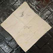 Gene Simmons One-of-a-kind Autographed Cloth Napkin With Doodles