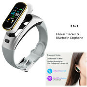 Bluetooth Smart Watch Sports Fitness Tracker Headset Handsfree Call For Iphone