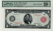 1914 5 Frn Red Seal Fr-837a Atlanta Pmg Very Fine 30 Rickey Collection