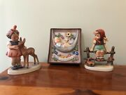 Hummel Lot Of 3 - Swaying Lullaby Wall Plaque, Just Resting, Friends