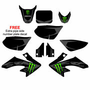Crf50 2004-2021 Monster Gray/black Complete Graphics Kit Free Shipping