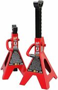 Big Red T42202 Torin Steel Jack Stands 2 Ton 4000 Lb Capacity Red 2