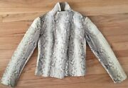Collection Real Python Snakeskin Leather Coat Beige Xs S Small