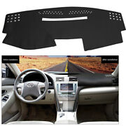 Black Leather Dashboard Cover Dashmat Dash Mat For Toyota Camry 2007-2011