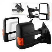 Spyder Auto 9935756 Manual Extendable - Power Heated Adjust Mirror With Led Sign