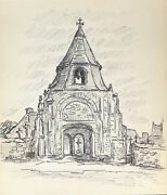 Daoulas Porch Of Steeple From Ancient Church Brittany Finistère Towards 1977