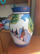 Wedgwood Clarice Cliff Isis Vase May Avenue - Good Condition