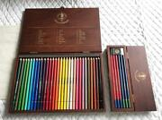 Kinloch Anderson 36 Colored Pencils With Wooden Box And 6-piece Pencil Set