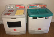 Rare Vintage Step 2 Play Kitchen Stove Dishwasher Sink Set For Kids Made In Usa