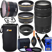 Canon Ef 75-300mm F/4-5.6 Iii Lens +14pc Kit For Rebel T6s, Xs, Xsi, Xt And Xti