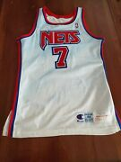Kenny Anderson New Jersey Nets Game-worn Jersey Drazen Petrovic Kevin Durant