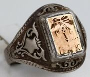 Ww2 Ring Dak Wwii 1943 German Africa Corps Gold 333 Sterling Silver 835 Germany